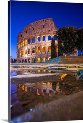 The Colosseum Reflections, Rome, Italy, Europe