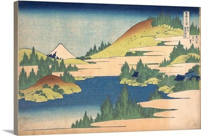 The Lake at Hakone in Sagami Province, from the series Thirty-six Views of Mount Fuji