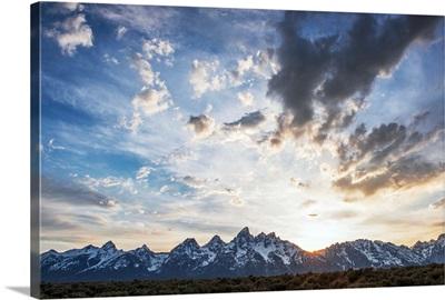 The Teton Range In The Morning, Grand Teton National Park, Wyoming