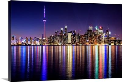 Toronto City Skyline at Night