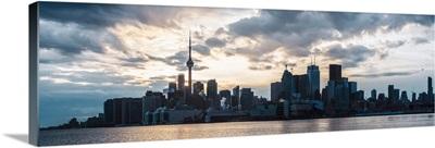 Toronto City Skyline with Sunset