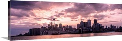 Toronto, Ontario, City Skyline at Sunset