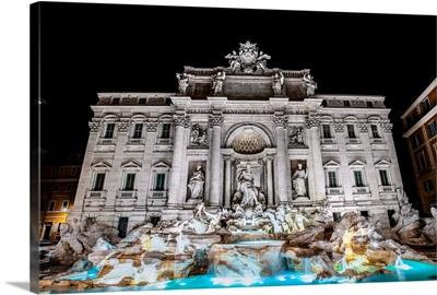 Trevi Fountain at Night, Rome, Italy, Europe