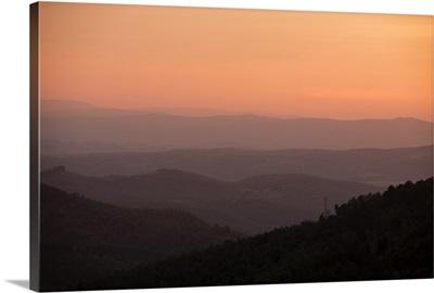 Tuscan Hills Sunset, Tuscany, Italy, Europe