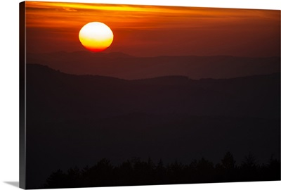 Tuscan Sunset Silhouette, Tuscany, Italy, Europe