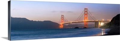 Twilight Golden Gate Bridge Panorama