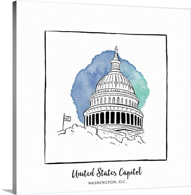 United States Capitol - Brushstroke Buildings