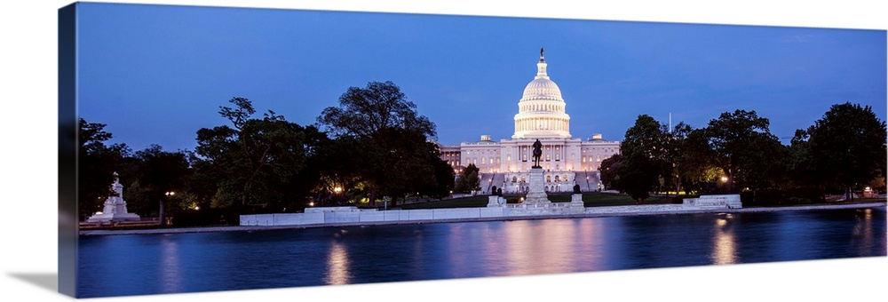 Us Capitol Building Washington Dc At Dusk Wall Art Canvas Prints Framed Prints Wall Peels Great Big Canvas