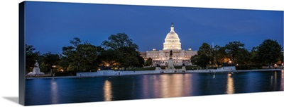 US Capitol Building Washington DC at Dusk - Panoramic