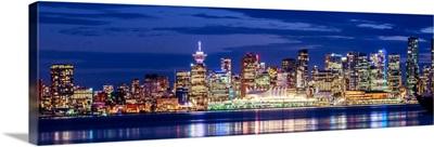 Vancouver at Night - Purple Panoramic