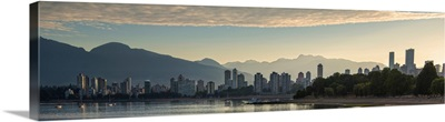 Vancouver, BC, Skyline at Sunset