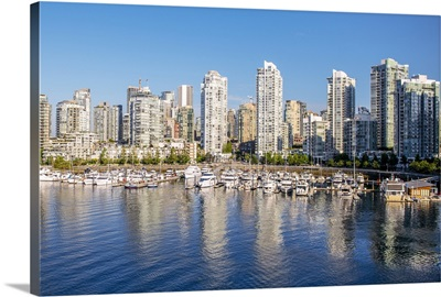 Vancouver Skyline and False Creek, British Columbia, Canada