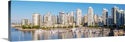 Vancouver Skyline and False Creek, British Columbia, Canada - Panoramic