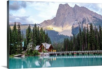Wapta Mountain And Emerald Lake, Yoho National Park, British Columbia, Canada