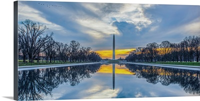 Washington Monument in Washington, DC at Sunrise