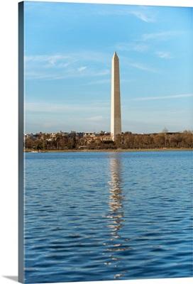 Washington Monument over the Potomac River, Washington, DC.