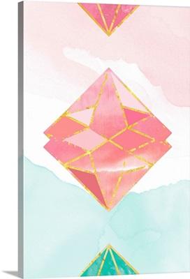 Watercolor Diamond in the Sky