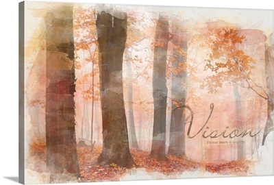 Watercolor Inspirational Poster: Discover beauty in simplicity