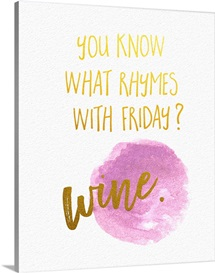 What Rhymes with Friday - Sentiment
