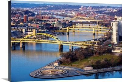 Yellow Bridges of Pittsburgh