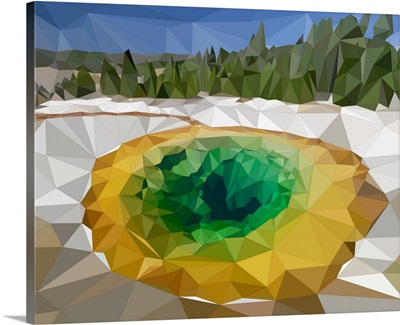 Yellowstone National Park - Low-Poly Art