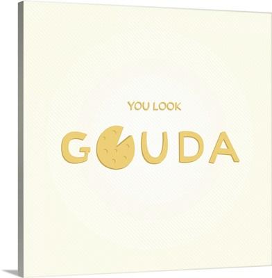 You look Gouda - minimalist retro kitchen art