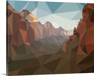 Zion National Park - Low-Poly Art