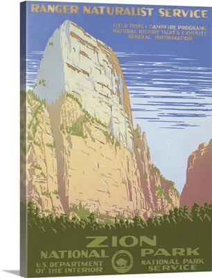 Zion National Park - WPA Poster