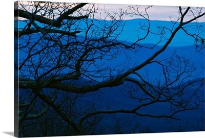 Sunset over mountains at Big Meadows, Blue Ridge Mountains, Virginia