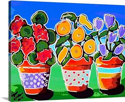 3 Whimsical Flower Pots