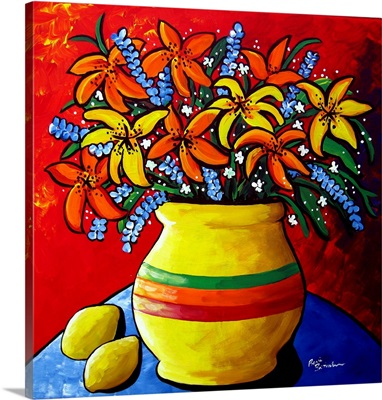 Colorful Lilies and Lemons