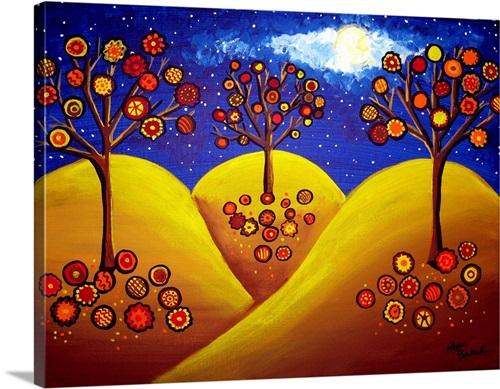 Fall Whimsical Trees Wall Art Canvas Prints Framed Prints Wall Peels Great Big Canvas