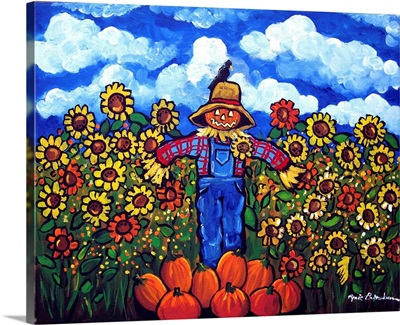 Scarecrow And Sunflowers