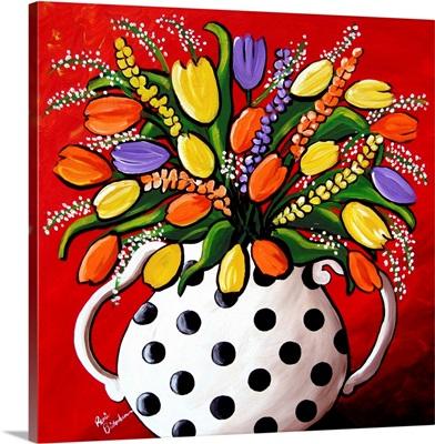 Tulips In Polka dots