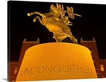 FSU Photograph Unconquered Statue at FSU