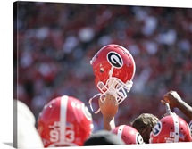 Georgia Football Helmet Raised High