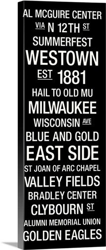Marquette: College Town Wall Art