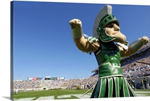 Sparty at Spartan Stadium on Game Day