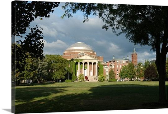 Syracuse Photographs Chapel Through the Trees