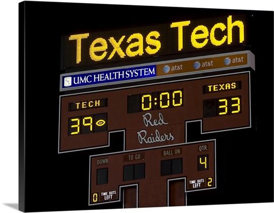 Texas Tech 39, Texas 33 November 1, 2008 Wall Art, Canvas Prints ...
