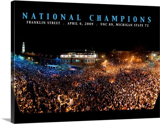 UNC Photographs Championship Night Franklin Street Celebration 2009