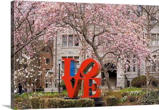 University of Pennsylvania Photographs The Love Statue