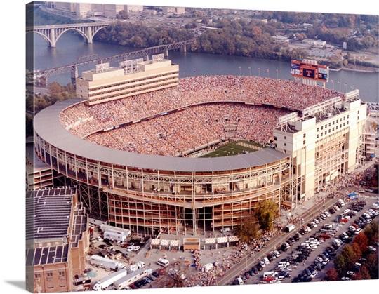 UT Photographs Aerial of Neyland Football Stadium