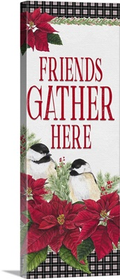 Chickadee Christmas Red - Friends Gather vertical