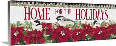Chickadee Christmas Red - Home for the Holidays horizontal