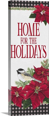Chickadee Christmas Red - Home for the Holidays vertical