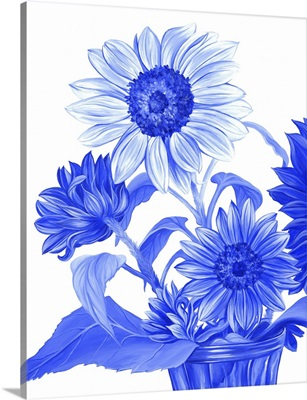 China Sunflowers Blue II
