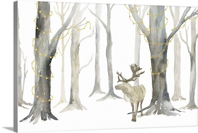 Christmas Forest Landscape