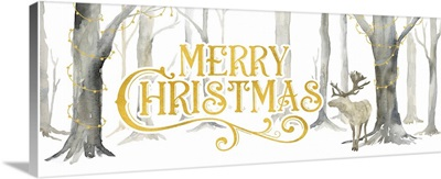Christmas Forest Panel I - Merry Christmas