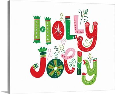 Festive Lettering - Holly Jolly